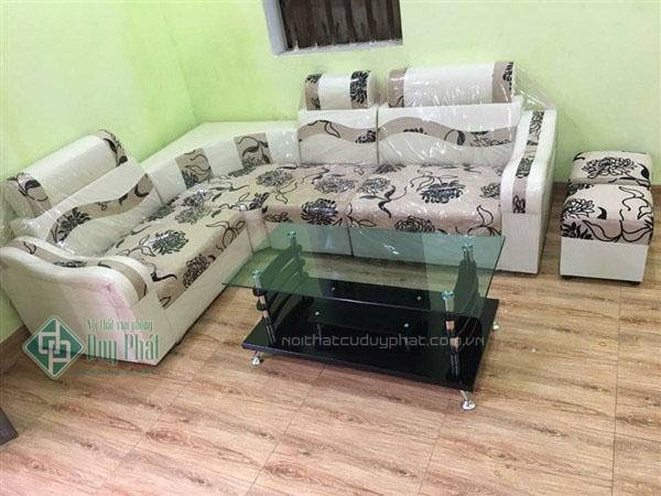 Mẫu sản phẩm thanh lý sofa Vĩnh Phúc bằng chất liêu da