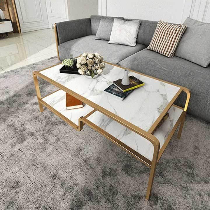 Mẫu bàn sofa mặt bàn đá rất sang trọng