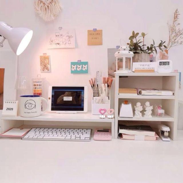 Kệ trang trí bàn học mini cho không gian học tập ngọt ngào