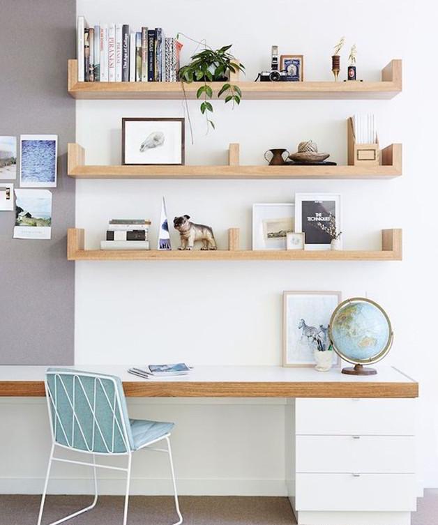 Kệ trang trí bàn học gắn tường