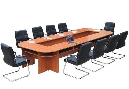 Mẫu bàn họp rỗng giữa phù hợp với phòng họp diện tích lớn